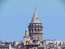 Monumento storico della torre di galata della Turchia Costantinopoli Fotografia Stock Libera da Diritti