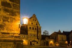 Monumento storico di Illumiated alla notte Fotografia Stock