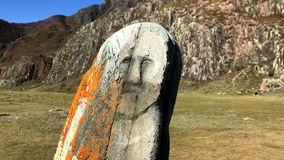 Monumento storico nelle montagne stock footage