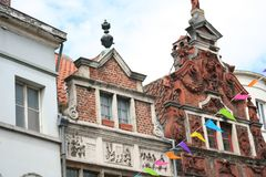 Monumento storico piacevole a Gand Belgio Fotografia Stock