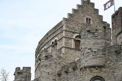 Monumento storico piacevole a Gand Belgio Immagini Stock