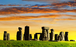 Monumento storico Stonehenge fotografia stock