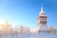 Monumento Suecia de la iglesia de la catedral de Kiruna Imágenes de archivo libres de regalías