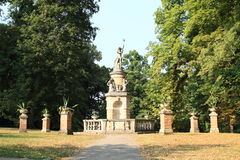 Monumento sul castello Konopiste Fotografia Stock