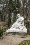 Monumento a Taras Shevchenko en Lviv Foto de archivo