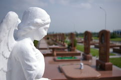 Monumento, terroristas que apreenderam a escola, cemitério, memória Imagem de Stock Royalty Free