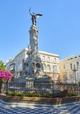 Monumento to Marques de Comillas Marquis. Alameda Apodaca Gardens. Cadiz, Andalusia, Spain. Monumento to Marques de Comillas Marquis in the Jardines de Alameda stock photo