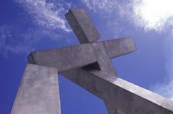 Monumento transversal Imagens de Stock