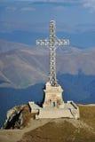 Monumento trasversale di Caraiman - Crucea Caraiman Fotografia Stock Libera da Diritti
