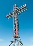 Monumento trasversale santo Immagine Stock
