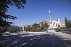 Monumento a Triumph de la Virgen en los jardines del triunfo, Imagen de archivo