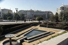 Monumento a Triumph del vergine Immagini Stock