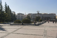 Monumento a Triumph do Virgin nos jardins do triunfo, Imagens de Stock Royalty Free