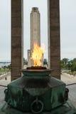 Monumento un bandera del la Imagenes de archivo