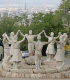 Monumento un La Sardana, Barcelona, España Fotografía de archivo