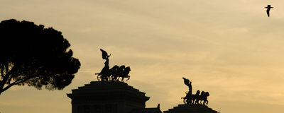 Monumento de Vittorio Emanuele II Imagenes de archivo