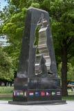 Monumento universale del soldato, parco di batteria, New York, NY Immagine Stock