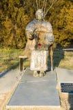 Monumento Vanga em Rupite, Bulgária, dezembro imagem de stock royalty free