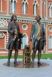 Monumento a Vasily Bazhenov y a Matvei Kazakov. Moscú. Fotos de archivo libres de regalías