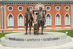 Monumento a Vasily Bazhenov y a Matvei Kazakov. Moscú. Fotografía de archivo libre de regalías