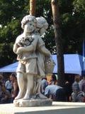 Monumento vicino al club del villaggio in Ucraina Il monnument è chiamato ` dei bambini del ` Fotografie Stock