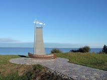 Monumento vicino allo sputo di Curonian, Lituania Fotografia Stock Libera da Diritti