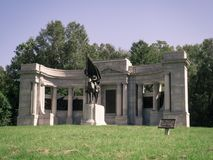 Monumento Vicksburg de la guerra civil de Mississippi foto de archivo