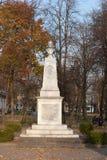 Monumento a Vincas Kudirka en Taurage Fotografía de archivo libre de regalías