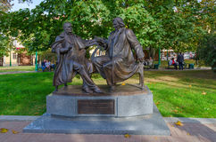 Monumento a Vincent Dunin-Marcinkevich y a Stanislaw Moniuszko, foto de archivo