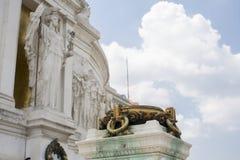 Monumento Vittoriano en Roma Imagen de archivo libre de regalías