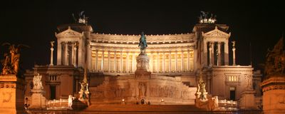National Monument to Victor Emmanuel II Stock Photography