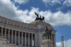 Monumento a Vittorio Emanuele II Fotografia Stock