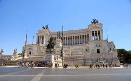 Monumento Vittorio Emanuele II o altare della patria a Roma Fotografia Stock Libera da Diritti
