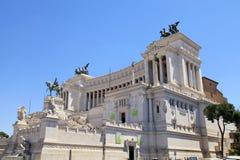 Monumento Vittorio Emanuele II o altare della patria a Roma Immagine Stock