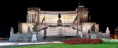 Monumento Vittorio Emanuele przy noc II Roma Fotografia Stock