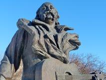 Monumento a Vladimir músico soviético e bielorrusso de Mulyavin-, conjunto principal 'Pesnyary ', o artista do pessoa da URSS fotos de stock royalty free