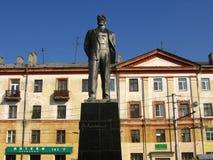 Monumento a Vladimir Mayakovsky in Dzeržinsk, Russia fotografia stock libera da diritti