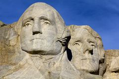 Monumento, Washington e Jefferson do Monte Rushmore Imagem de Stock