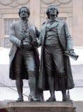 Monumento Weimar de Goethe-Schiller Foto de Stock Royalty Free