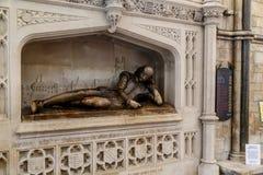Monumento a William Shakespeare en la catedral de Southwark imágenes de archivo libres de regalías