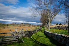Monumento y Canno del campo de batalla Imagen de archivo libre de regalías