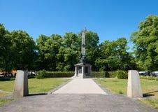 Monumento y cementerio soviéticos foto de archivo libre de regalías