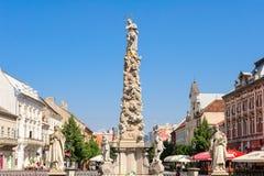Monumento y estatuas de la columna de la plaga Fotografía de archivo libre de regalías