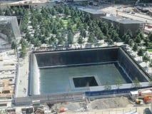 Monumento y museo nacionales del 11 de septiembre en el sitio del World Trade Center Imagen de archivo