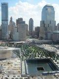 Monumento y museo nacionales del 11 de septiembre en el sitio del World Trade Center Imágenes de archivo libres de regalías