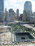 Monumento y museo nacionales del 11 de septiembre en el sitio del World Trade Center Imagenes de archivo