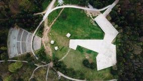Monumento y parque en el Nis, Serbia de Bubanj metrajes