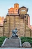 Monumento a Yaroslav Mudry, duque magnífico de Novgorod y de Kiev, HOL Imagen de archivo