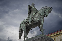 Monumento a Yuri Dolgoruky fotos de stock
