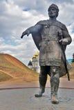 Monumento a Yuri Dolgoruky Kremlin em Dmitrov, cidade antiga na região de Moscou imagens de stock